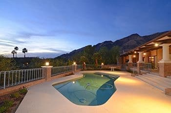 Catalina Foothills Home For Sale in Finisterra North Tucson with Panoramic Mountain Views and Pool