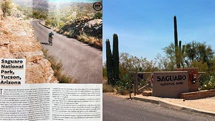 Saguaro National Park Bicycling Trails in Tucson AZ